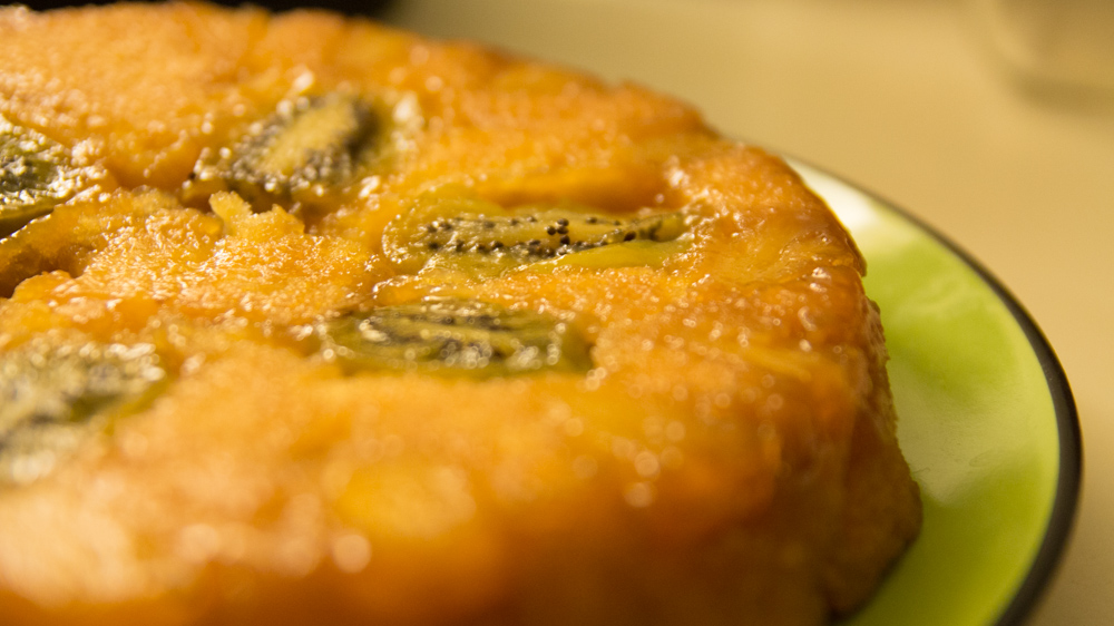 Kiwi & Pineapple Upside-down Cake